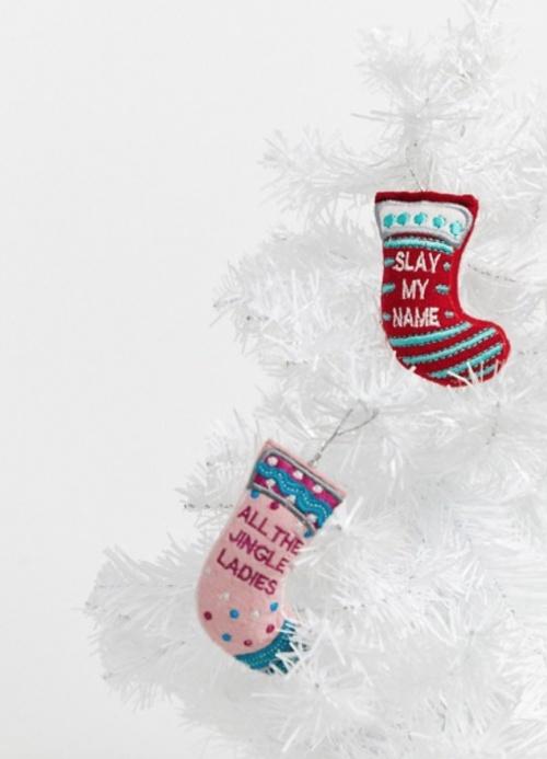 Typo - Lot de 2 chaussettes pour le sapin