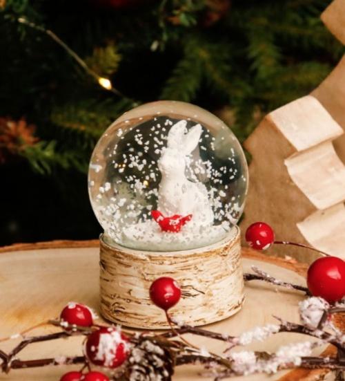 La Chaise Longue - Boule à neige lapin
