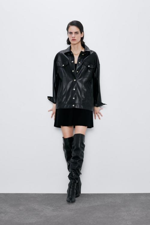 Zara - Veste en similicuir