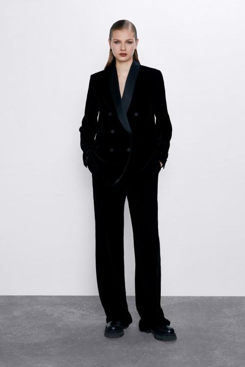 Zara - Blazer en velours