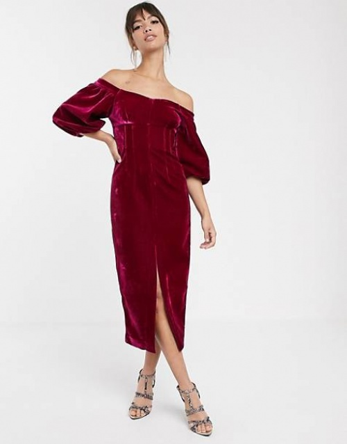 Asos Edition - Robe en velours
