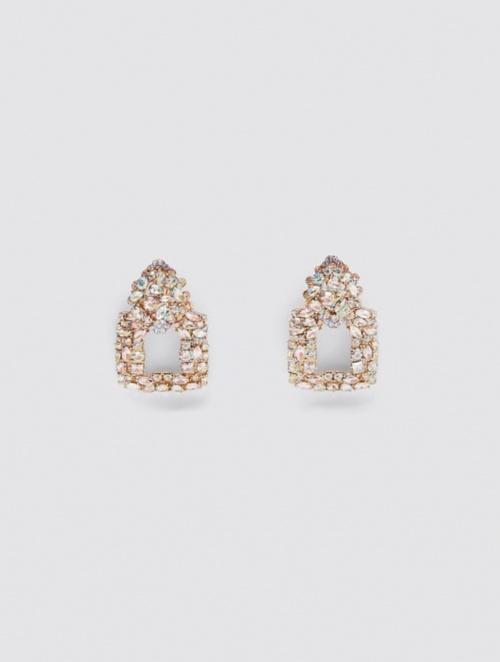 Zara - Boucles d'oreilles carrées
