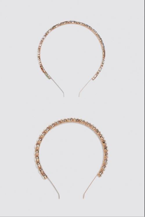 Zara - Lot de serre-têtes à pierres