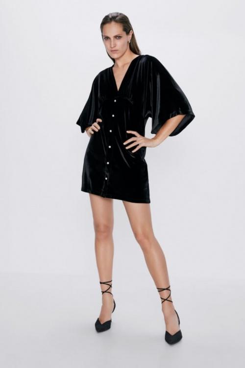 Zara - Robe en velours