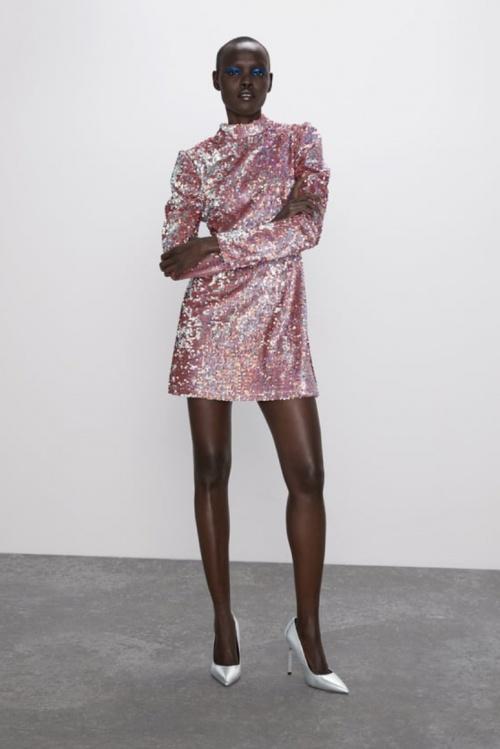 Zara - Robe mini à paillettes