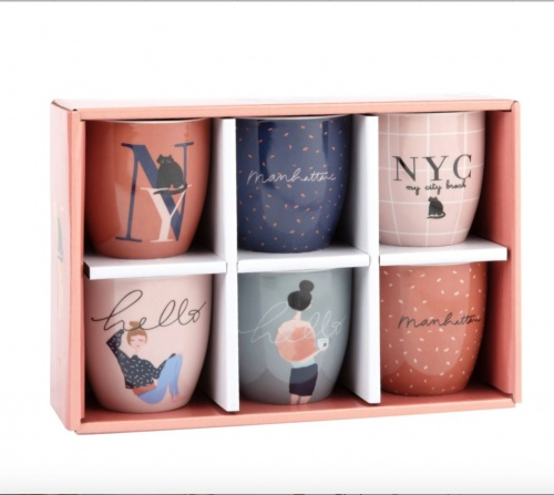 Maisons du monde - Coffret 6 tasses