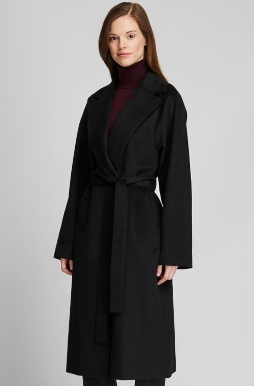 Uniqlo - Manteau laine noir