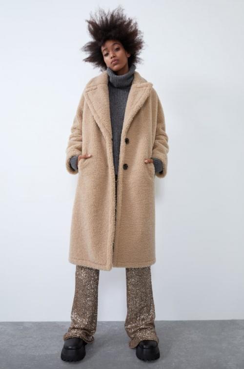 Zara - Manteau effet mouton