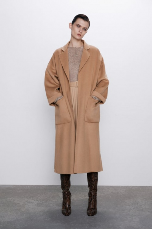 Zara - Manteau poches plaquées
