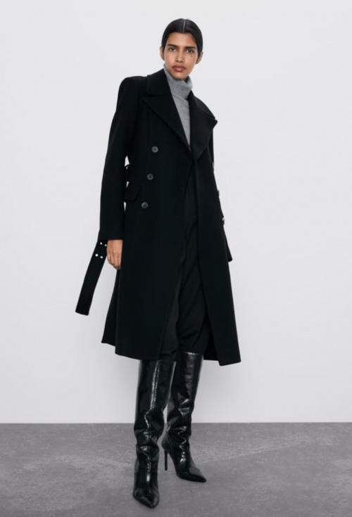 Zara - Manteau boutonnage croisé