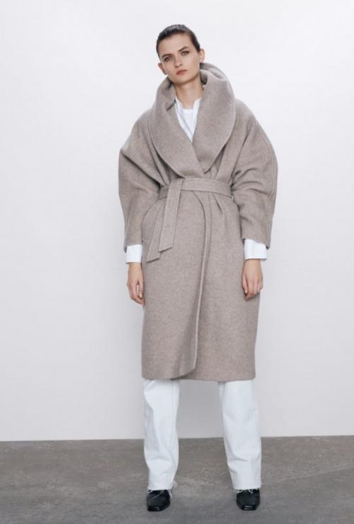 Zara - Manteau à ceinture