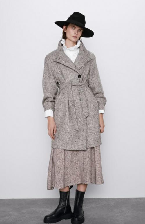 Zara - Manteau col montant