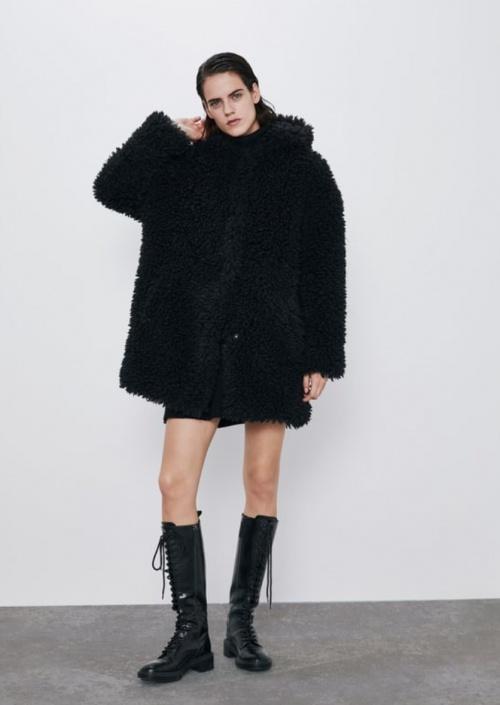 Zara - Manteau effet doudou