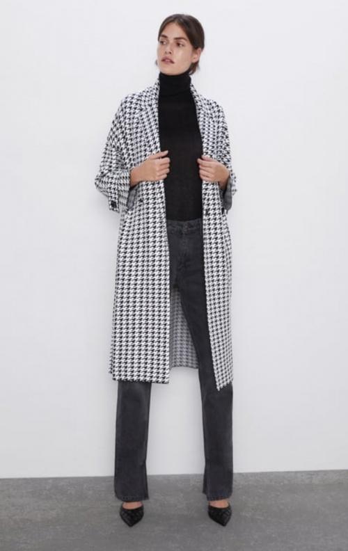 Zara - Manteau pied-de-poule