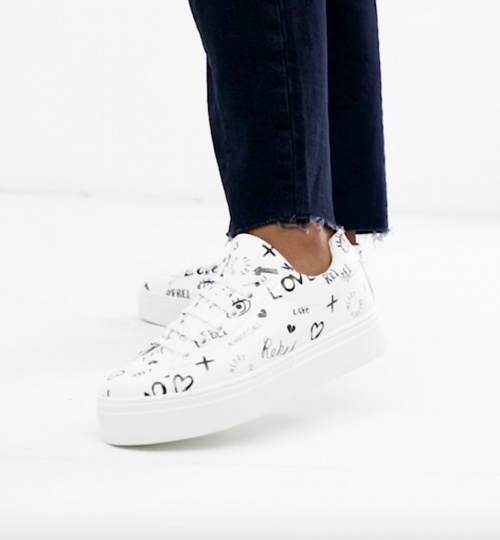 Asos Design - Baskets blanches