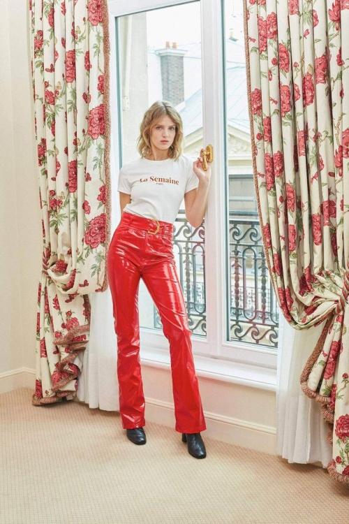La Semaine Paris - Pantalon en vinyle