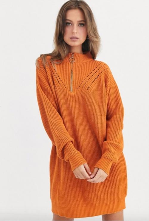Liquorish - Robe pull zippée