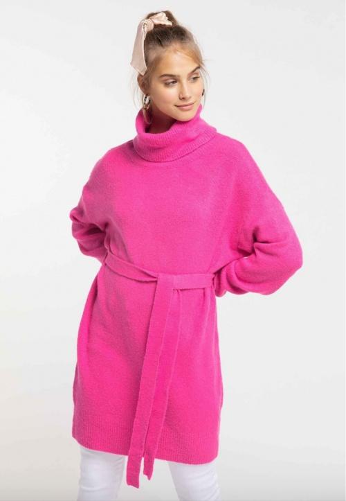 myMo - Robe pull rose fluo