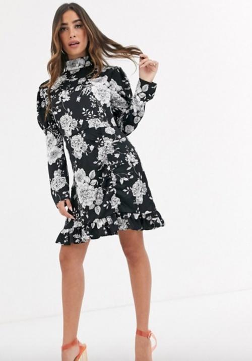 Missguided - Robe courte à fleurs