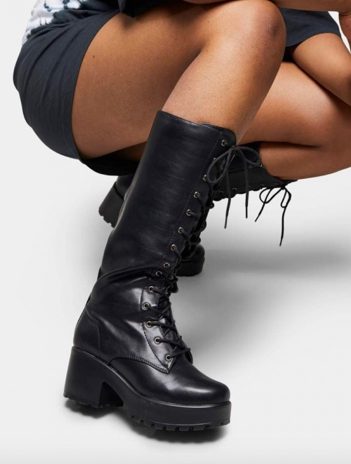 Koi Footwear - Bottes hauteur genou punk