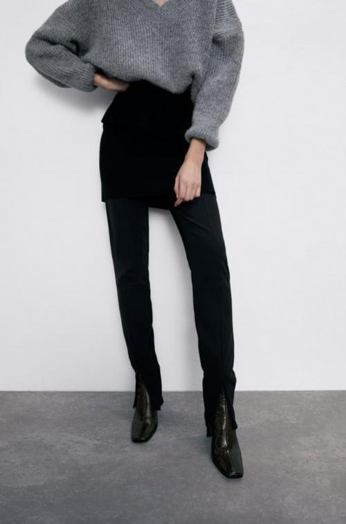 Zara - Mini jupe à volants