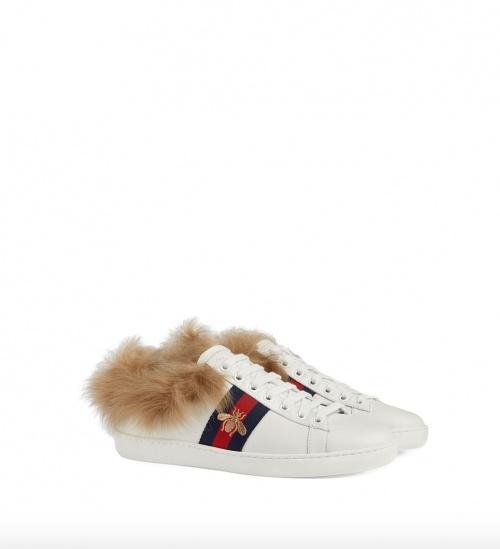 Gucci - Baskets détails fourrure