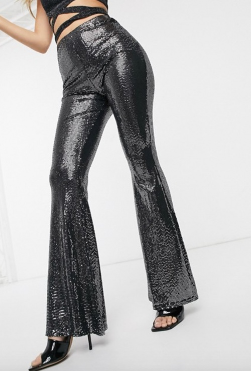 Missguided - Pantalon paillettes