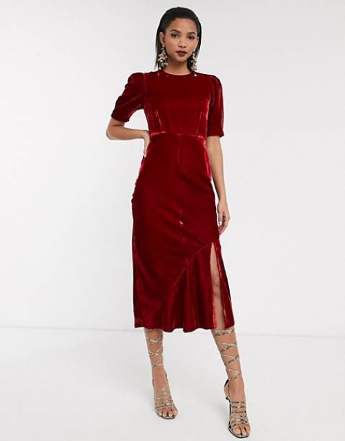 ASOS DESIGN - Robe en velours