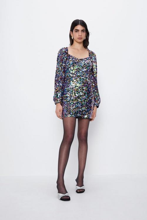 Zara - Robe à sequins