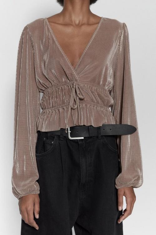 Zara - Top plissé