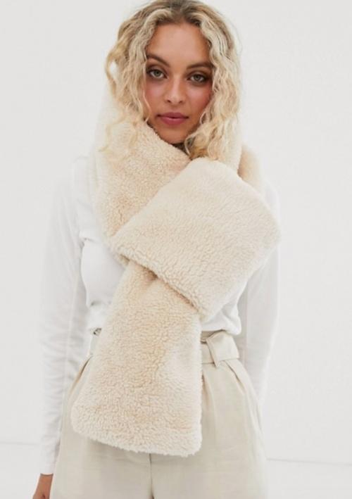 Asos Design - Echarpe peau de mouton