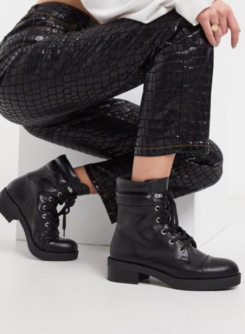Bershka - Bottines lacées