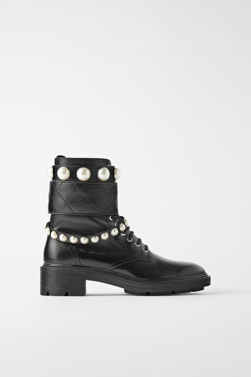 Zara - Bottines à lacets