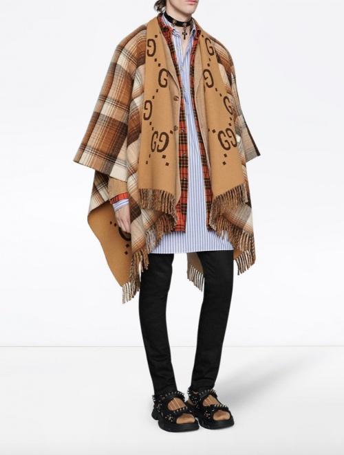 Gucci - Poncho en laine
