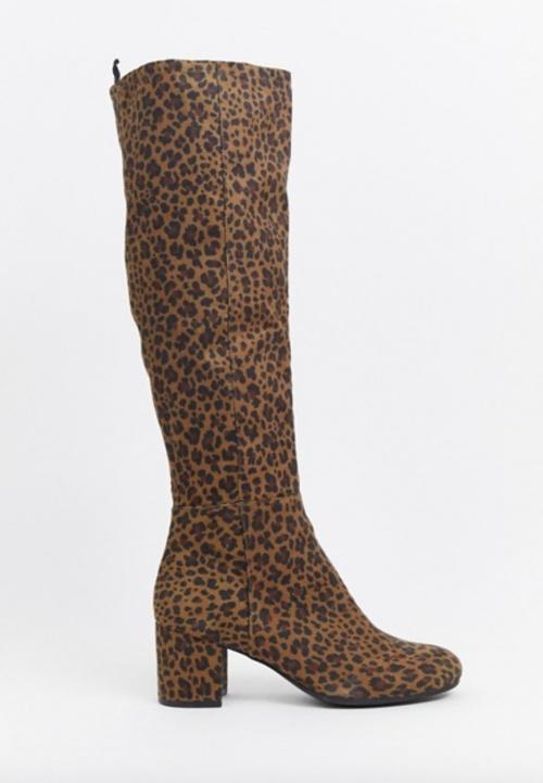 Monki - Bottes hauteur genou léopard