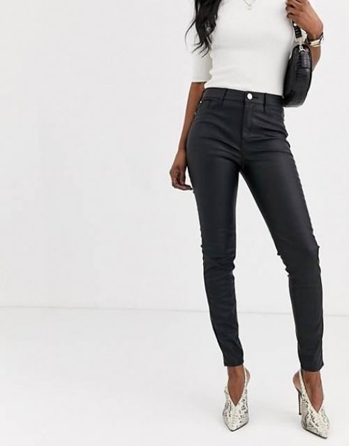 River Island - Pantalon en simili cuir