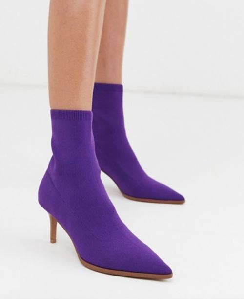 Asos Design - Bottines violettes