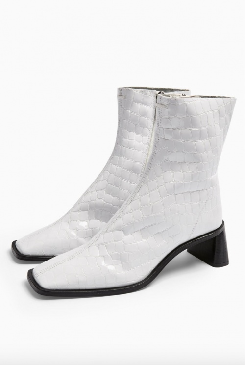 Topshop - Bottines blanches
