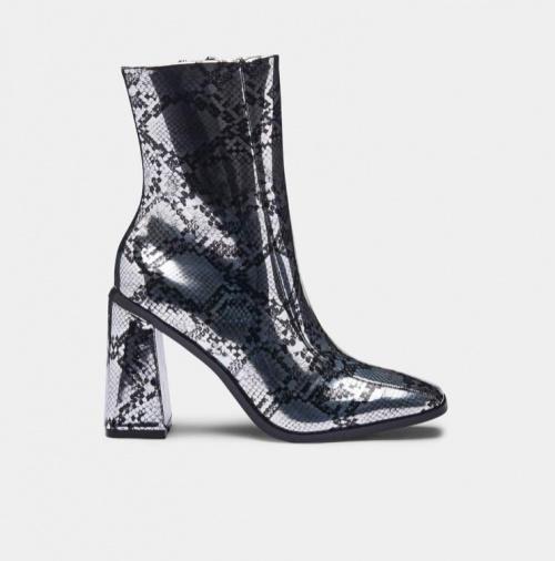 Koi footwear - Bottines métalliques serpent