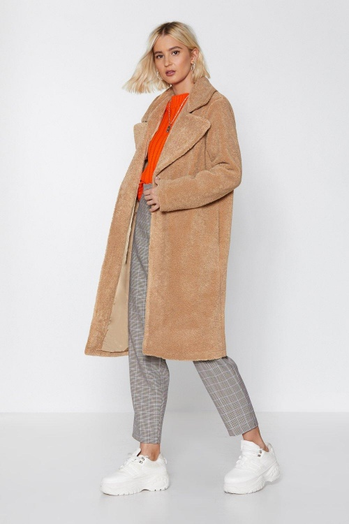 Nasty Gal - Manteau teddy