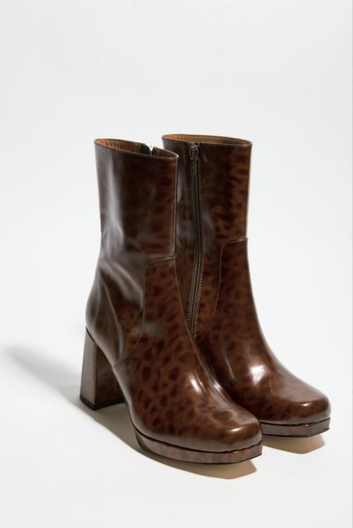 Amélie Pichard - Bottines en cuir glacé