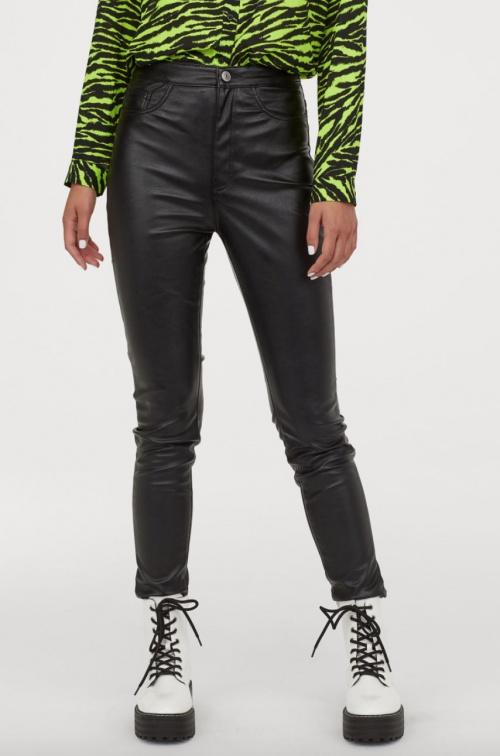 H&M - Pantalon simili cuir skinny