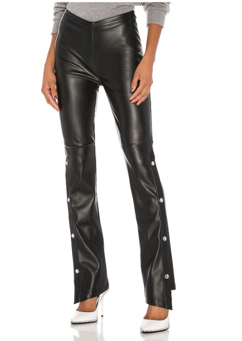 T by Alexander Wang - Pantalon simili cuir