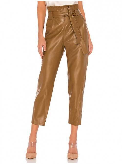 Amanda Uprichard - Pantalon simili cuir