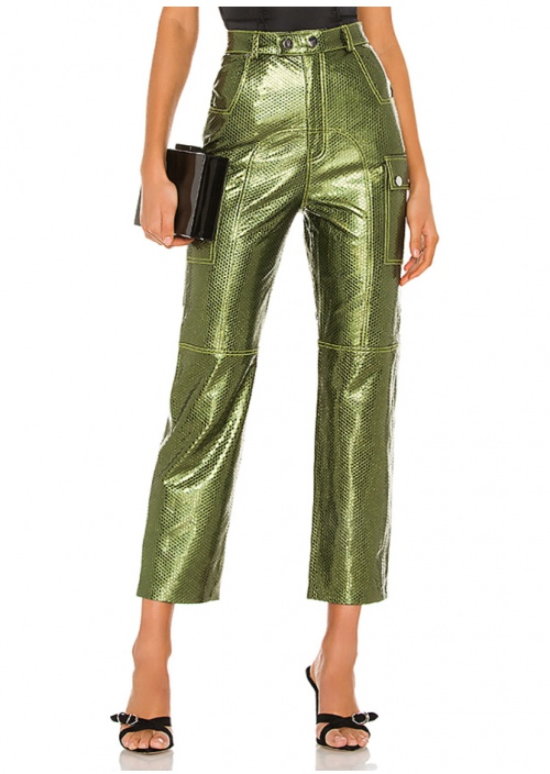 Camila Coelho - Pantalon simili cuir