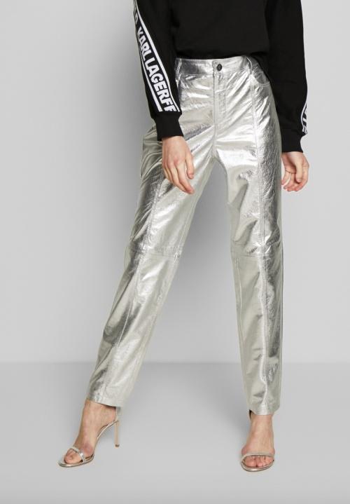 Karl Lagerfeld - Pantalon simili cuir métallique