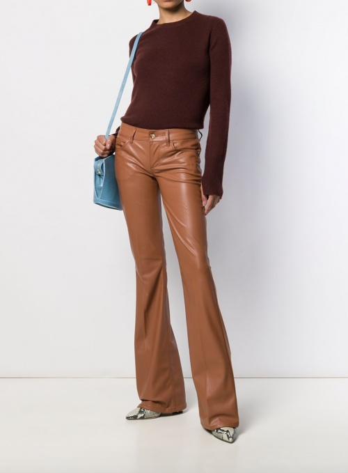 LIU JO - Pantalon flare simili cuir