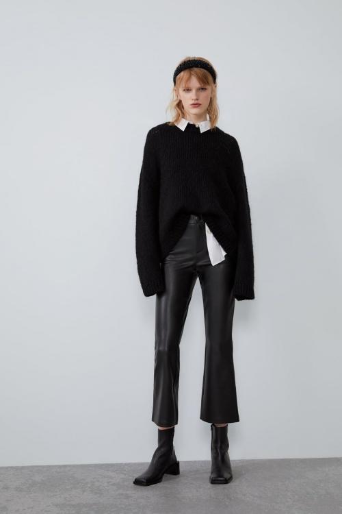 Zara - Legging en simili cuir