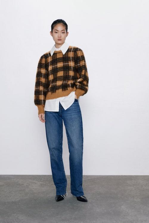 Zara - Pull à carreaux