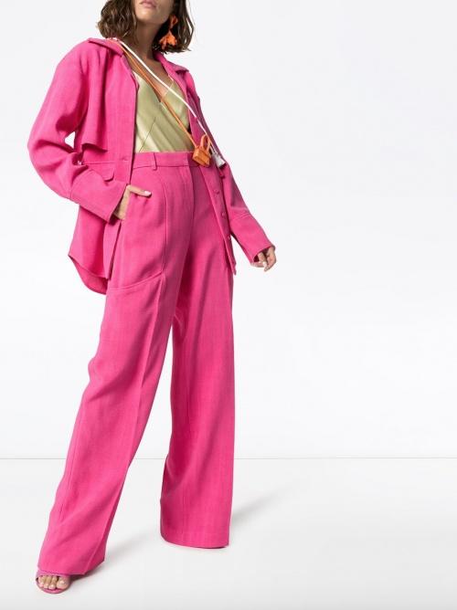 Jacquemus - Pantalon ample rose